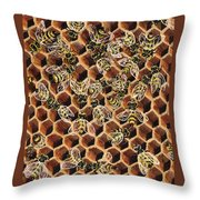 Busy Bee 2 Throw Pillow