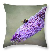 Busy Busy Bee Throw Pillow