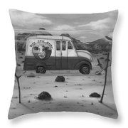 Busy Cow Dairy Edit 2 Throw Pillow
