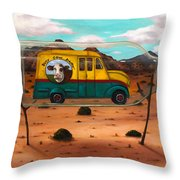 Busy Cow Dairy Edit 3 Throw Pillow
