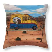Busy Cow Dairy Edit 4 Throw Pillow