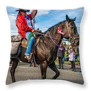 Busy Cowgirl Throw Pillow