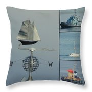 Busy Halifax Harbor Throw Pillow