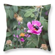 Busy In The Morning Throw Pillow