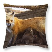 Busy Mommy Throw Pillow