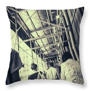 Busy Sidewalks Throw Pillow