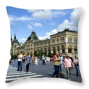 Busy Square Throw Pillow