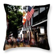 Busy St George Street Throw Pillow
