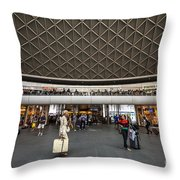 Busy Station Throw Pillow
