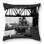 Busy Waterway Throw Pillow