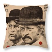 Butch Cassidy And The Sundance Kid Throw Pillow