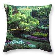 Butchard Gardens Vancouver Island Throw Pillow