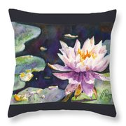 Butchart's Lily Throw Pillow