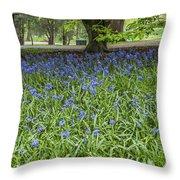 Bute Park Bluebells Throw Pillow