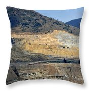Butte Berkeley Pit Mine Throw Pillow