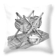 Butter Churn Circa 1822 Throw Pillow