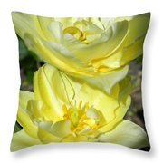 Butter Cream Throw Pillow