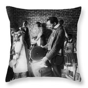Butter Making, C1899 Throw Pillow