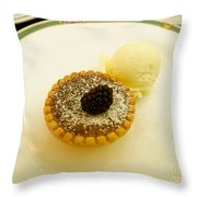 Butter Tart With Ice Cream Throw Pillow