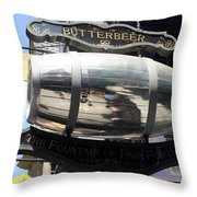 Butterbeer Inn Throw Pillow
