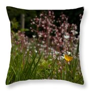 Buttercup And Wildflowers Throw Pillow