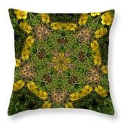 Buttercup Kaleidoscope Throw Pillow