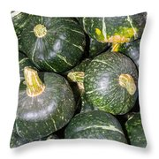 Buttercup Winter Squash On Display Throw Pillow