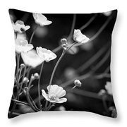 Buttercups Throw Pillow