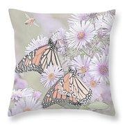 Butterflies And Bee Throw Pillow