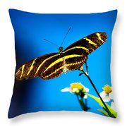 Butterflies And Blue Skies Throw Pillow