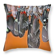 Butterflies And Cocoons Throw Pillow
