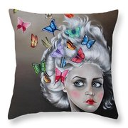 Butterflies In The Thoughts Throw Pillow