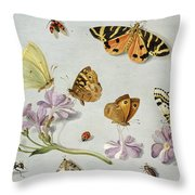 Butterflies Throw Pillow