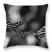 Butterflies On A Wire Throw Pillow
