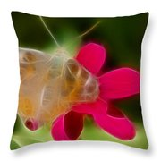 Butterfly-5288-fractal Throw Pillow