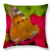 Butterfly-5416-fractal Throw Pillow