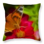 Butterfly-5430-fractal Throw Pillow