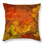 Butterfly Abstract 2 Throw Pillow