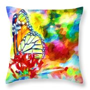 Butterfly Abstracted Throw Pillow