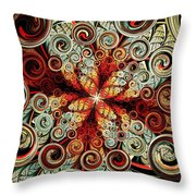 Butterfly And Bubbles Throw Pillow by Anastasiya Malakhova