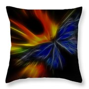 Butterfly And Flame Throw Pillow