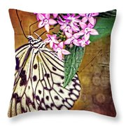 Butterfly Art - Hanging On - By Sharon Cummings Throw Pillow by Sharon Cummings