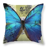 Butterfly Art - S01bfr02 Throw Pillow by Variance Collections