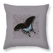 Butterfly At Rest Throw Pillow