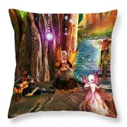 Butterfly Ball Party Throw Pillow