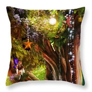 Butterfly Ball Tree Throw Pillow by Aimee Stewart