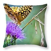 Butterfly Beauty And Little Friend Throw Pillow