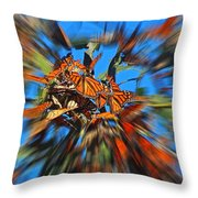 Butterfly Blast Throw Pillow