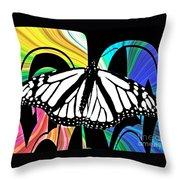 Butterfly Abstract Wall Art Decor Throw Pillow