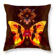 Butterfly By Design Abstract Symbols Artwork Throw Pillow